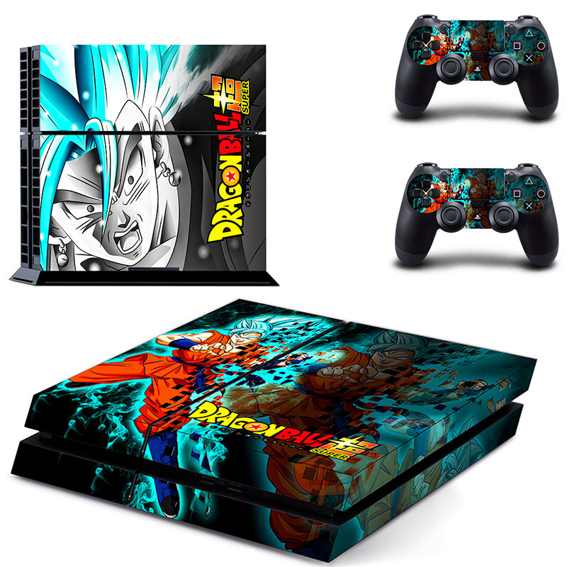 New Dragon Ball Game Accessory Decal Stickers For Sony Play Station 4 Console & 2 Controller Skin Sticker