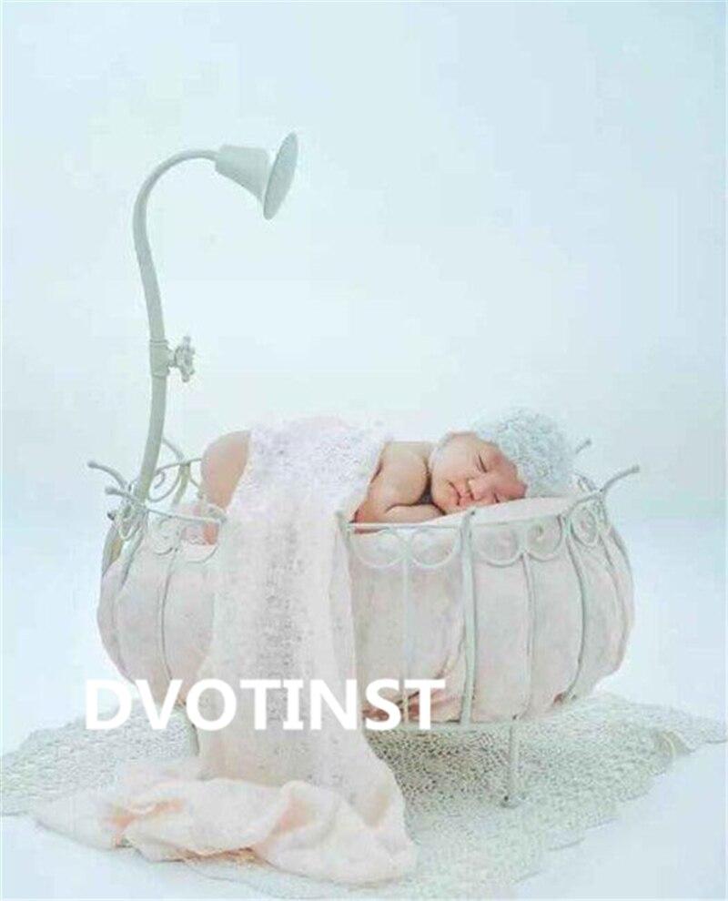 Dvotinst nouveau-né bébé photographie accessoires fer princesse lit panier Fotografia accessoires infantile Studio photographie accessoires