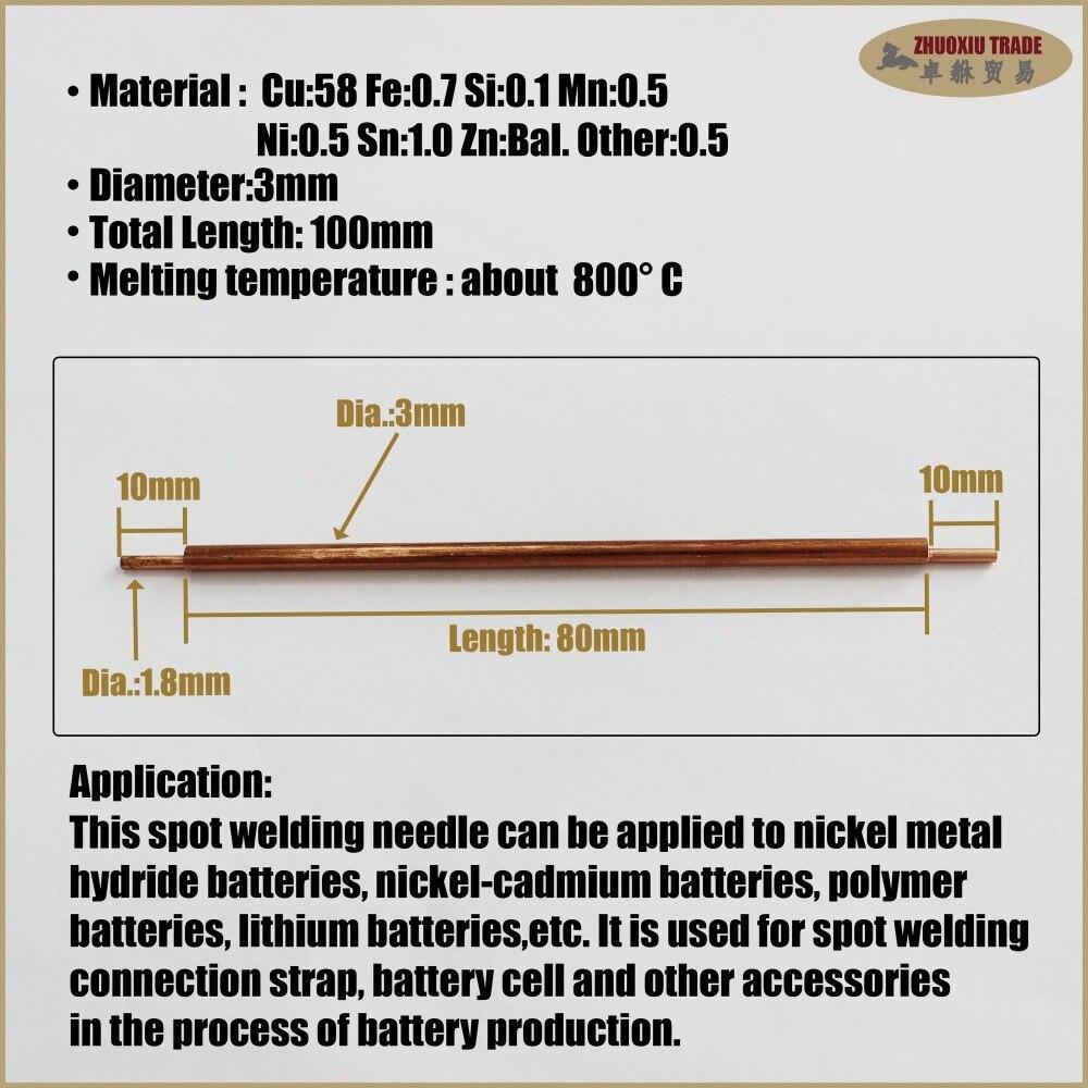 Battery tab aluminum welding electrode copper pack spot welder battery tab aluminum welding electrode copper pack spot welder electrodes head tips weld machine needle pin soldering solder in welding wires from tools on sciox Gallery