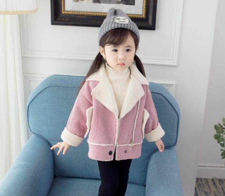 2018 new autumn girl spring and autumn hooded short jacket children s casual coat children s