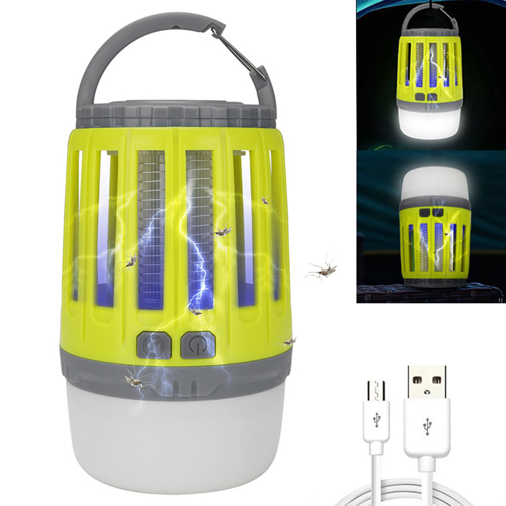 Camping Lights With Bug Zapper Mosquito Repellent Function Camping Lantern Mosquito Trap Mosquitoes Insect Killer Pest Reject
