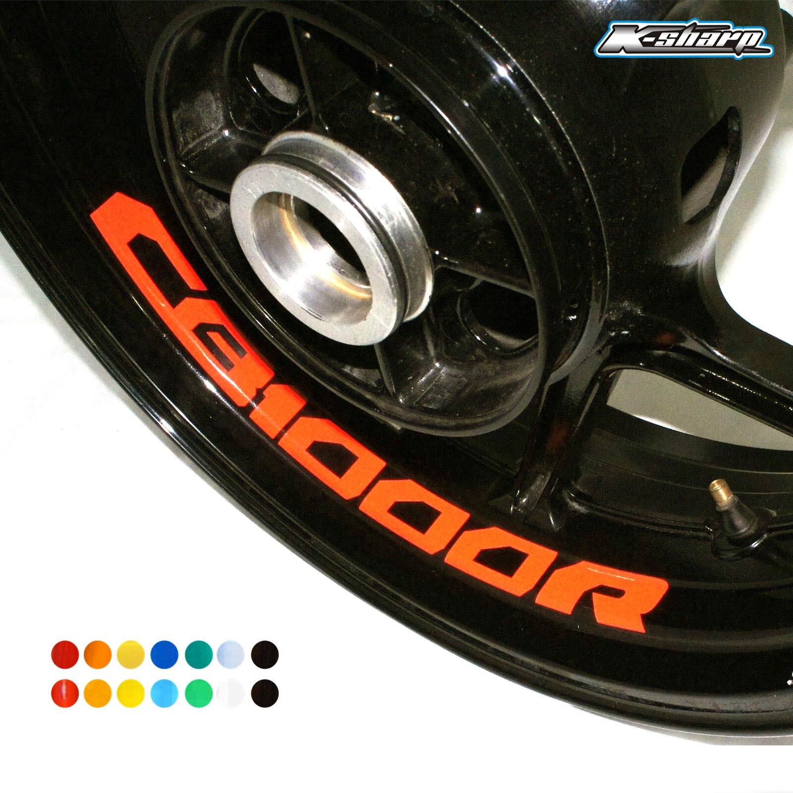 8 X Custon Inner Rim Decals Wheel Reflective Stickers Stripes FIT HONDA CB1000R