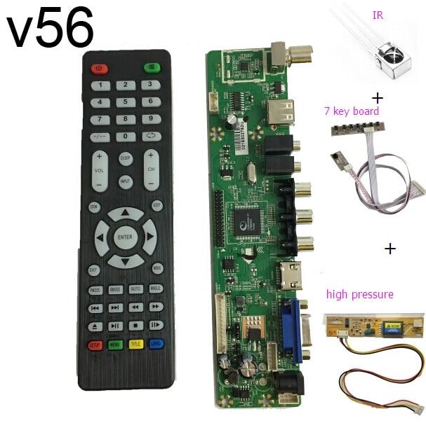 free shipping V56 Universal LCD TV Controller Driver Board PC VGA HDMI font b USB b