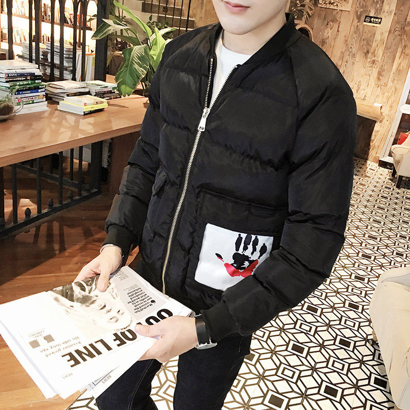 men coat The 2017 explosion models Metrosexual padded jacket XL stamp padded jacket MY01-P100