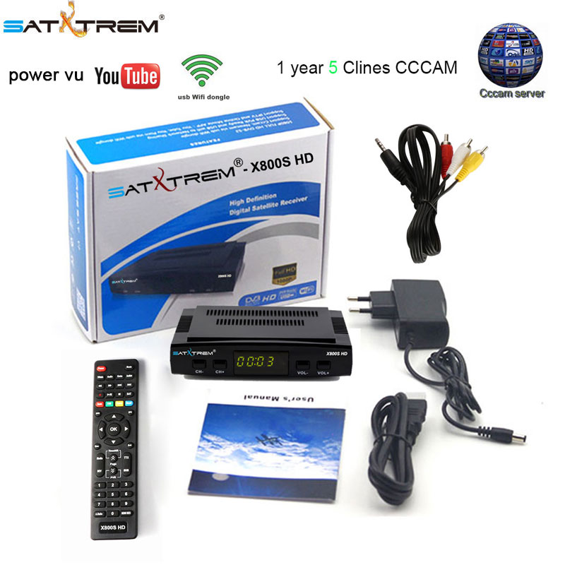 X800S HD satellite tv receiver Full 1080P with USB WiFi antenna DVB-S2 Support Ccam powervu set top box pk freesat V7 HD V7S HD hellobox gsky v7 5pcs hd powervu autoroll iks ccam dvb s2 receiver tv box better than freesat support tandberg patch