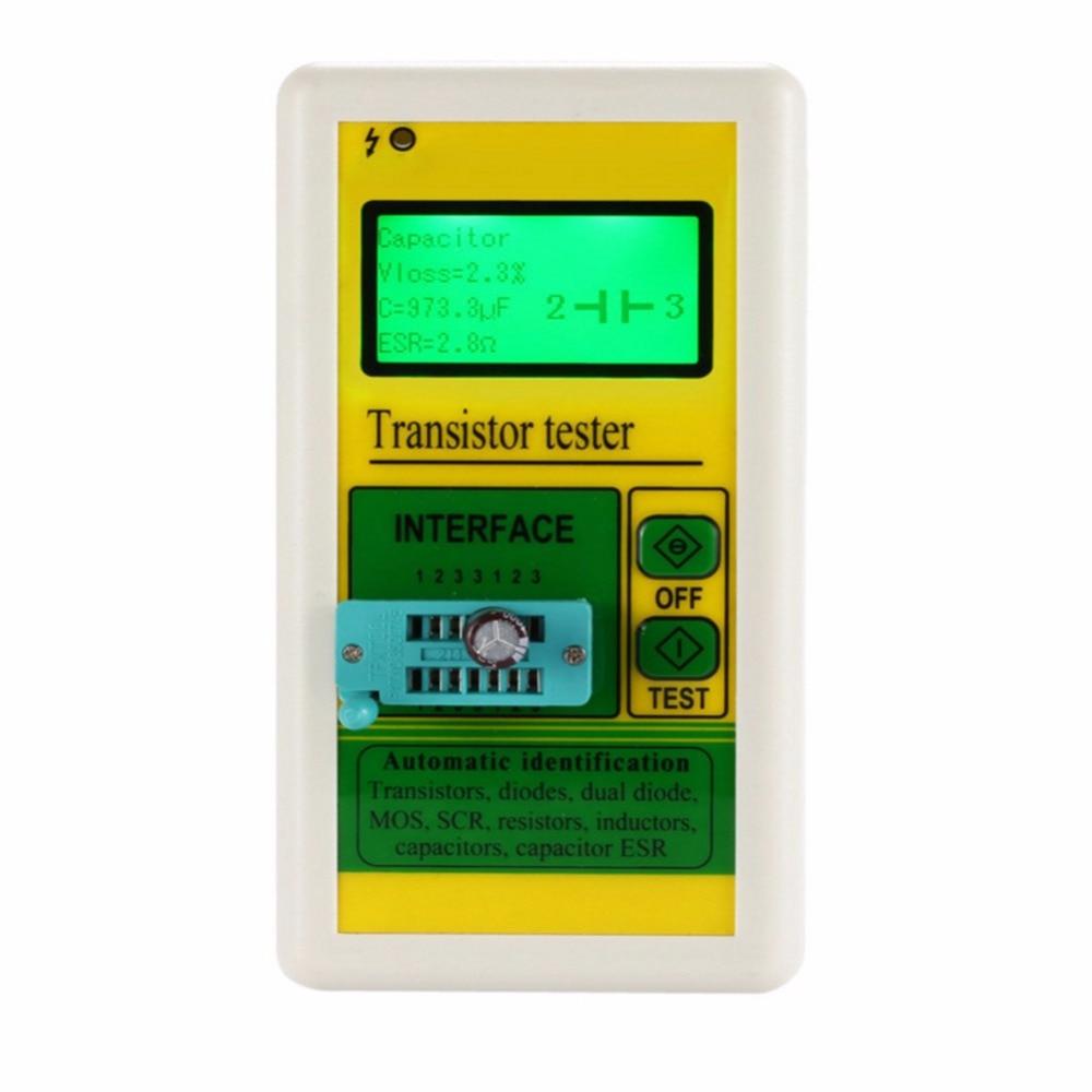 New Digital LCD Transistor Tester Diode Thyristor Resistor Capacitance Meter ESR LCR Meter Megger Insulation Tester lcr t4 graphical tester resistor capacitor esr diode thyristor inductor mos