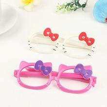 1e3e83781e 2 Pack Kawaii Cartoon Hello Kitty Cat Bow Glasses Ballpoint Pen Ball-point  Pens Office