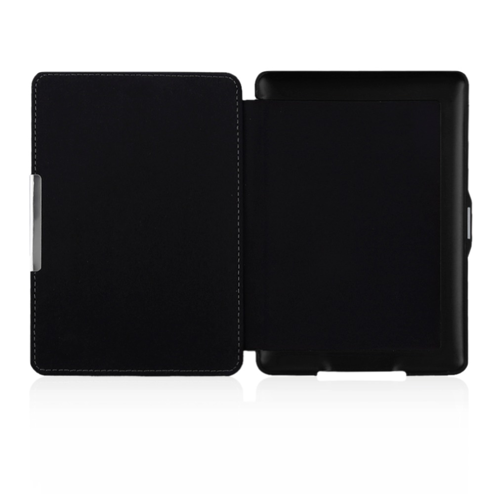 Portable Protective Magnetic Case Bracket Ultra Thin Slim Omnibearing Protect PU Leather Case For Kindle Paperwhite(China)