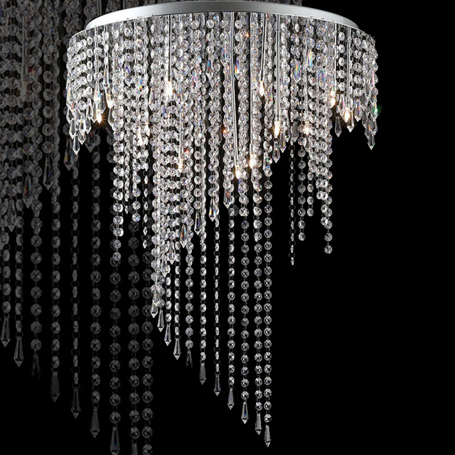 Modern led crystal chandelier led lamps stainless steel k9 crystal modern led crystal chandelier led lamps stainless steel k9 crystal chandeliers g4 led light lamps led aloadofball Images