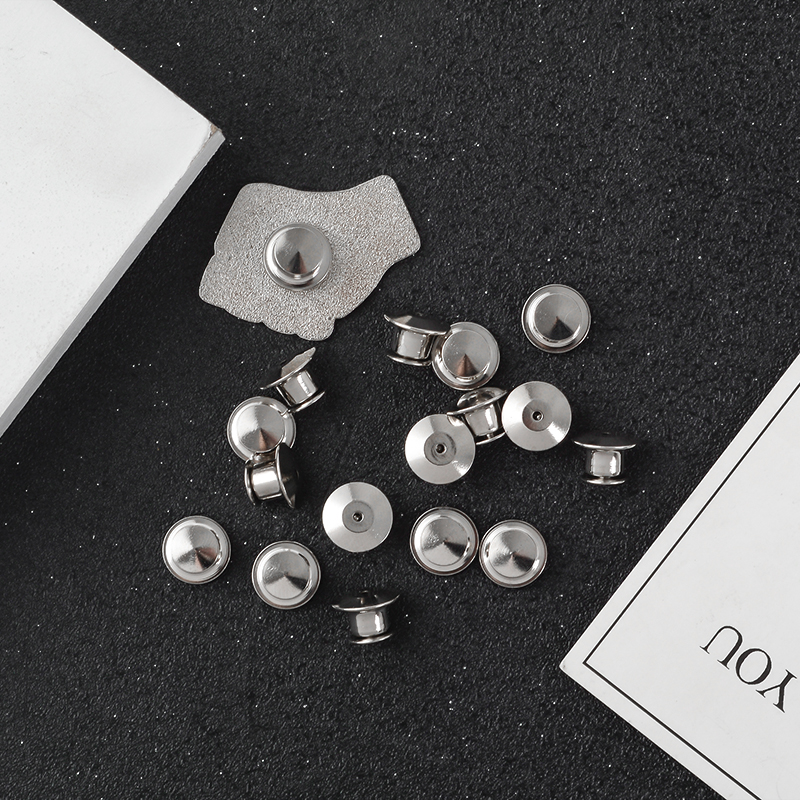 5~10 pieces/set Silver Brooch Pin Back Locking Keepers Secure Locking  Clutch Deluxe Pin BacK Badge Pendants for DIY Jewelry