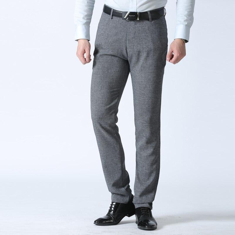 2018 Neue Design Casual Männer Hosen Baumwolle Dünne Hose Gerade Hosen Mode Business Feste Hosen Männer Plus Größe 42 Reisen
