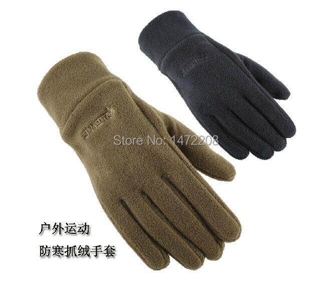 כפפות החורף של גברים של גברים עיבוי צמר החורף חם זכר כפפות ספורט כפפות אצבע אופנה פעיל