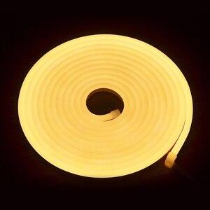 24VDC 2835/5050 светодиодные ленты серии T неоновые световые трубки 120 led на метр теплые белые светодиодные неоновые полосы тонкие веревки света