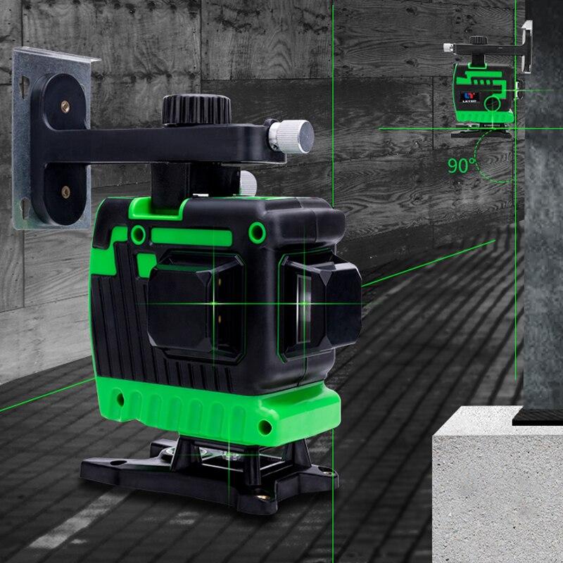 New Green laser nível 12 etiquetador linha de nível de alta intensidade de luz do nível do chão