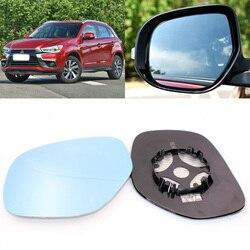 Dla Mitsubishi ASX 2013-2016 widok z boku drzwi lustro niebieskie szkło z podstawą podgrzewana 1 para