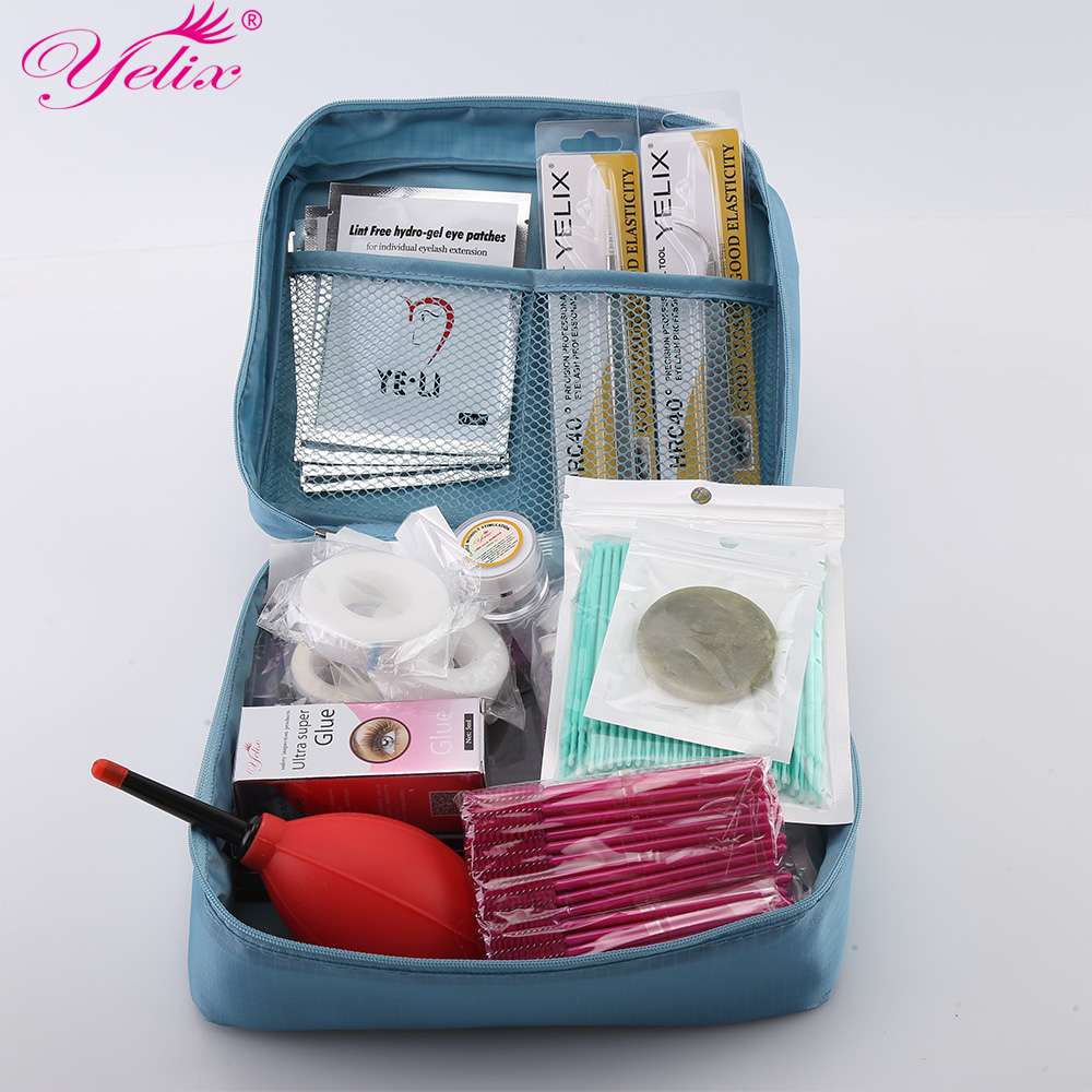 Professional Makeup Eye Lashes Glue Tools kit Nutural False eyelash extension Glue tool mink eyelashes Makeup Tools set 12 kinds