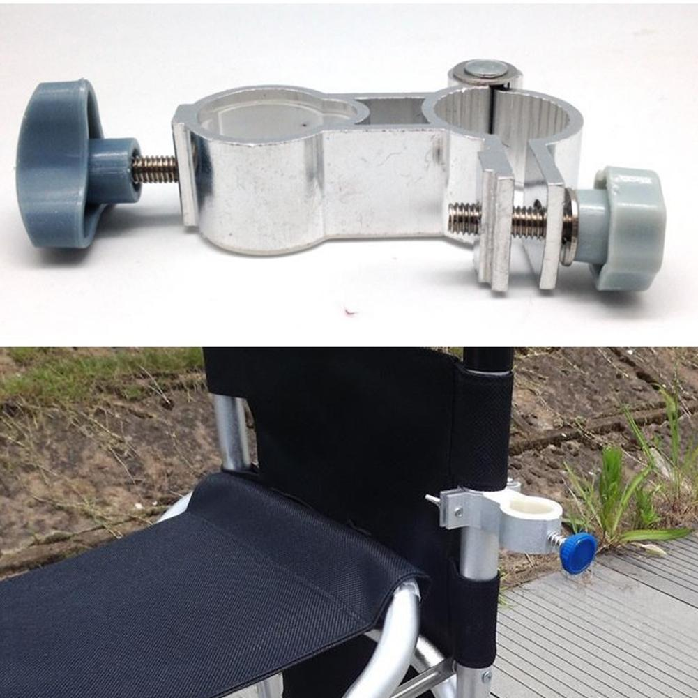 Clamp On Chair Umbrella Us 3 71 42 Off Hot Sale Aluminum Alloy Universal Fishing Chair Clip Aluminum Alloy Leisure Chair Umbrella Stand Clamp Fishing Accessories In Fishing