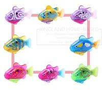 2 3 4pcs LED Lighting Robotic Fish Activated Battery Powered Swimming Boy Bath Pet Toys Aquarium