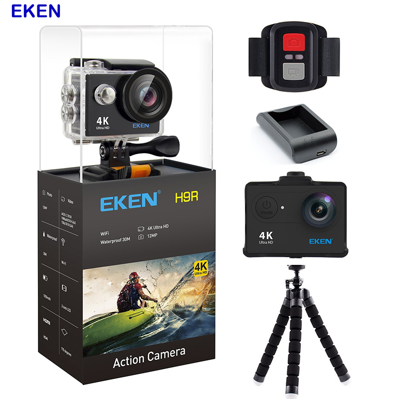 Original Eken Action Camera 4k Go pro Camera Wifi Waterproof Sports Camera 12MP 170 Degree Wide Angle Car Drone Camera original eken action camera eken h9r h9 ultra hd 4k wifi remote control sports video camcorder dvr dv go waterproof pro camera