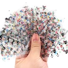 3D Nail Art Stickers Beauty  Style 50 Design Nail Foil Manicure Decals Foil Decorations Tools 20pcs lot nail art stickers diy 3d nail tips design water transfer foil glitter decals manicure nail decoration tools stickers