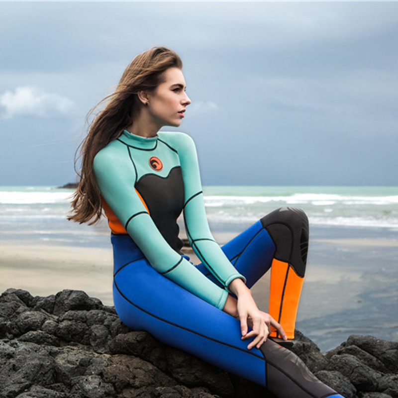 531206e189 1.5MM Neoprene Diving Wetsuits for Women Long Sleeve Scuba Diving Suits  Swimwear Snorkeling Jumpsuit Rash