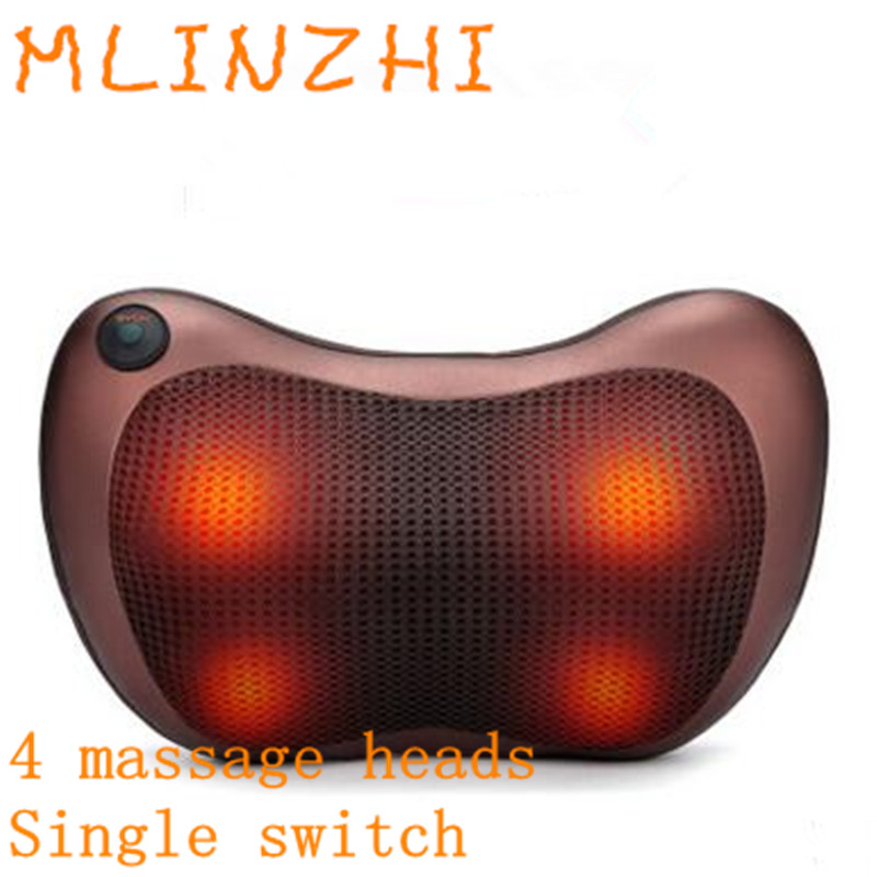 Heating Kneading Head Massage Pillow Home Car Dual Use Body Cervical Lumbar Waist Leg Pain Relief Relaxation Health Care new design healthcare multifunction massager pillow automobiles relax cervical vertebrae leg home dual use infrared heating
