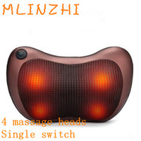 Heating Kneading Head Massage Pillow Home Car Dual Use Body Cervical Lumbar Waist Leg Pain Relief Relaxation Health Care