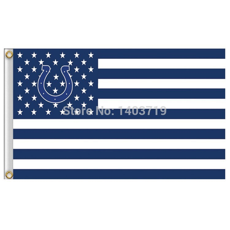 3x5ft usa football indianapolis colts nfl 1 banner flag