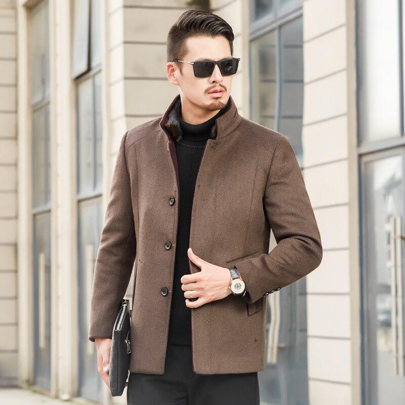Laine 3 Décontractée Et D'hiver 1 2 Automne Mince Col Vestes Coton Manteau Manteau Mode De D'affaires Long Nouvelle 2018 hommes Tranchée lcKT1FJ