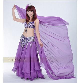 1pcs/lot Free Shipping Woman Belly Dancing Chiffon Veil Dance Dancing Costume Chiffon Shawl Veil 250*120CM