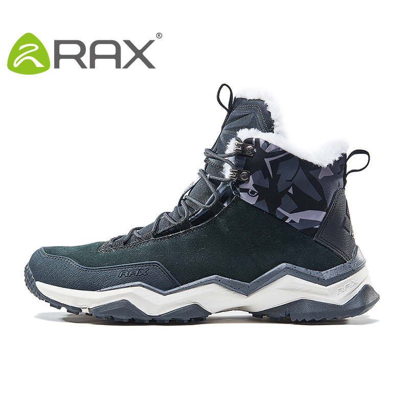 RAX Waterproof Men Hiking shoes boots Winter outdoor Snow Boots for Women Warm Anti-slip Trekking Boots Mountain climbing shoes yin qi shi man winter outdoor shoes hiking camping trip high top hiking boots cow leather durable female plush warm outdoor boot