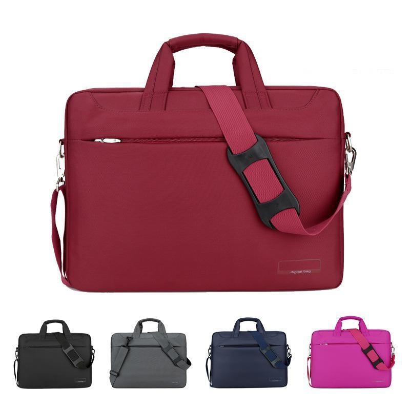 2b89967208dd Водостойкая Портативная сумка для ноутбука 12 13 14 15 17 дюймов  Компьютерная деловая Мужская и женская сумка для ноутбука 2018