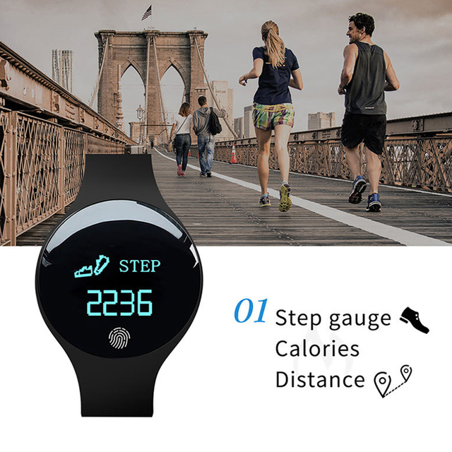 Fitness Smart Pedometer Bluetooth Watch For Men And Women For Android And iOS