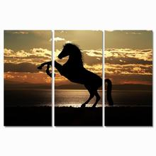 sunset horse oil painting wall art canvas  poster and printed Wall Art Pictures for living room decor Poster