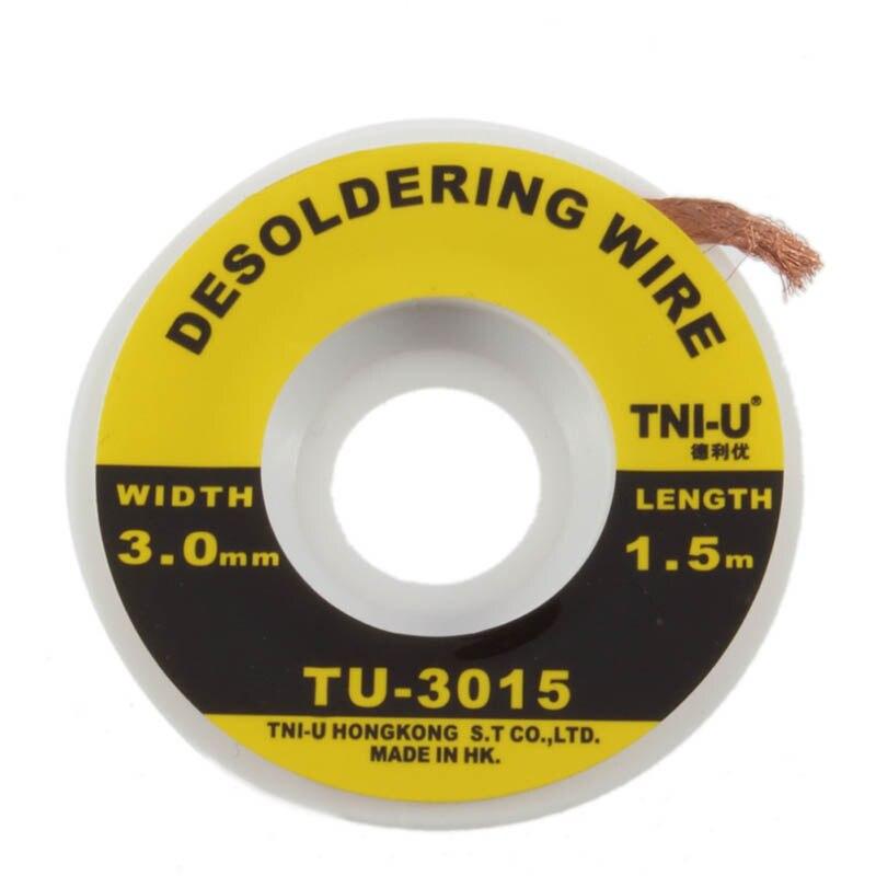 5 Feet //1.5M 3mm Desoldering Braid Solder Remover Wick Wire Repair Tool ST