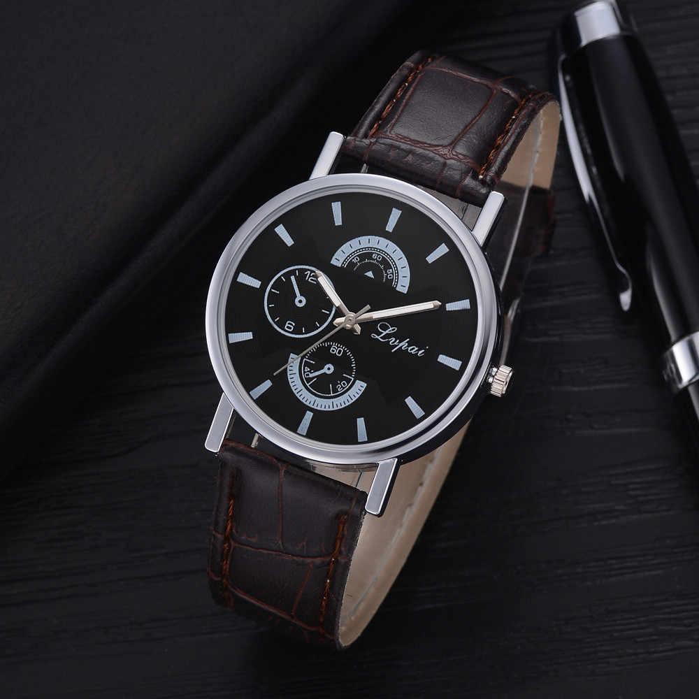 2019 montre homme Lvpai אופנה מקרית שעונים גברים קוורץ רצועת עור שעון אנלוגי שעוני יד עסקים saat relogio masculino
