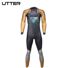 UTTER Elitepro Męskie złoto SCS Triathlon Suit Swimsuit Neoprenowy kombinezon z długim rękawem Kombinezony pływackie do strojów kąpielowych i biegania