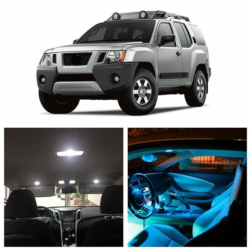 8pcs LED Xenon White Light Interior Package Kit for Nissan Frontier 2005-2016