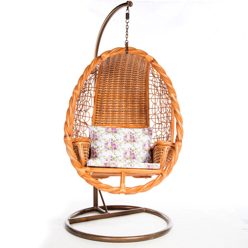 Indoor Cane Wood Egg Shaped Adult Hanging Swing Chairs With Stand(8893) In  Living Room Chairs From Furniture On Aliexpress.com | Alibaba Group