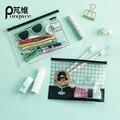 Mujeres Impermeables Transparentes Kit de baño de Los Hombres de la Cremallera DEL PVC Bolsa de viaje Capacidad Conveniente de Almacenamiento de maquillaje Bolsa de la Señora Masculina