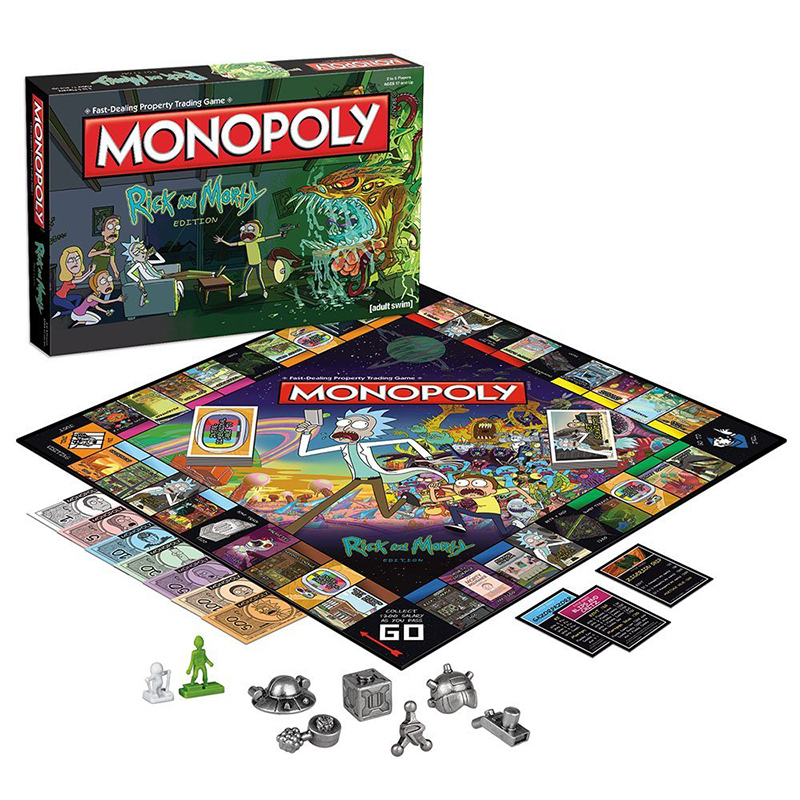 TV Show Rick and Morty MONO POLY Board Game Adult Swim series Collector s Edition Brand