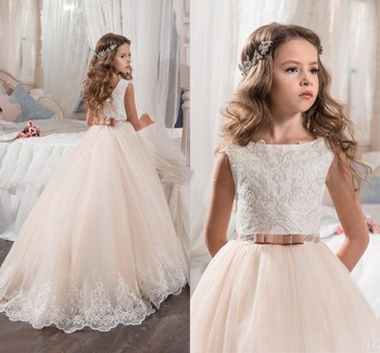 Flower Girl Dress Sleeveless Vintage Weddings Occasion Brithday Party Custom Made Princess Tutu Ball Gown Kids Skirt Child