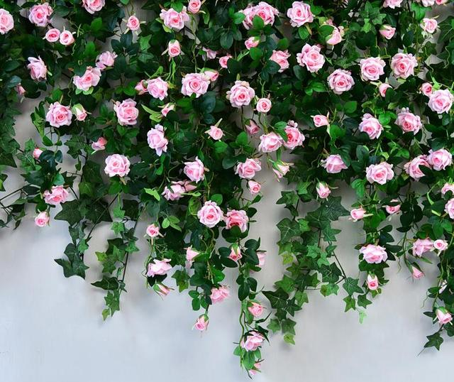 Aliexpress buy white red pink champagne fuschia 120cm white red pink champagne fuschia 120cm hanging flowers garland wedding arch rose string home mightylinksfo
