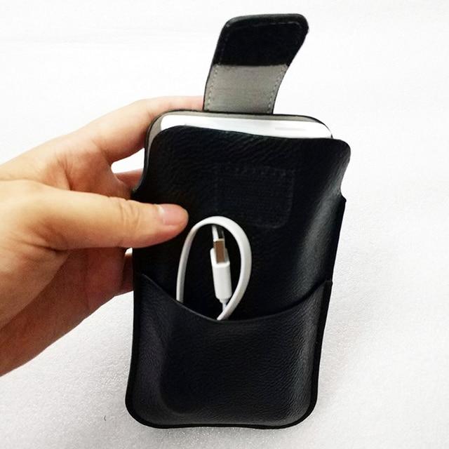 Hasp cinturón de cuero de la PU caso para 20000 mah Xiaomi banco de potencia 2C cargador cubierta mi 20000 Banco de la energía de la batería bolsa hebilla bolso PLM06ZM