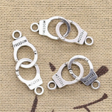8pcs Charms Handcuffs Freedom 30x10mm Antique Making Pendant fit Vintage Tibetan Silver color DIY Handmade Jewelry cheap hroryn Zinc Alloy Animals Fashion like photo Metal
