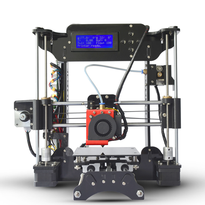 Simple Tronxy XY100 machine 3D Imprimante Haute Précision LCD Écran Extrudeuse Imprimantes l'éducation enfants DIY Kit 8g SD Carte