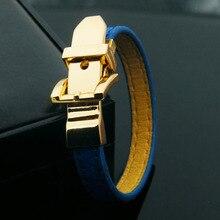 11 цветов PU кожаный браслет цвета золота застежка ремня регулируемый размер браслеты для женщин подарок(DJ1364