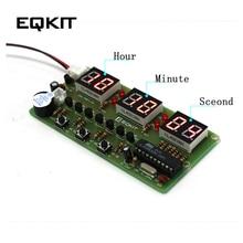 89a69033 C51 цифровой DIY электронные часы комплект Люкс DIY Kit шесть 6 бит  электронный Запчасти и Компоненты