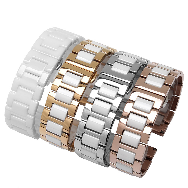 Quality stainless steel ceramic watch bands 18mm 20mm smart watch accessories mens metal strap fit Withings Activite/ steel/ Pop стоимость