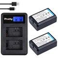 2 Шт. 2000 мАч NP-FW50 NP FW50 NPFW50 аккумулятор аккумулятор bateria AKKU + LCD USB Двойной Зарядное Устройство Для Sony NEX-3 NEX-5C Alpha A55 NEX-C3